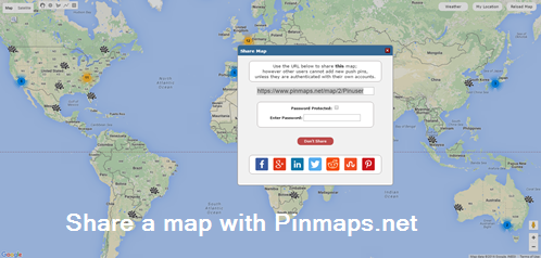 My Maps - Create a map with pins | Pinmaps.net